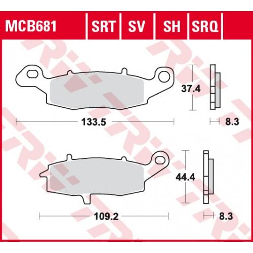 Тормозные колодки MCB681