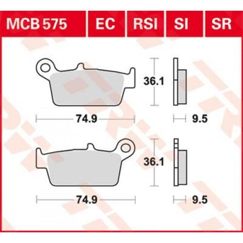 Тормозные колодки задние MCB575SI