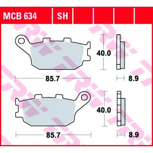 Тормозные колодки задние MCB634