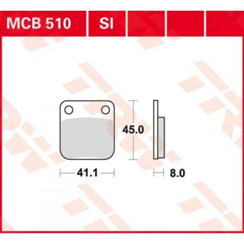 Тормозные колодки задние MCB510SI