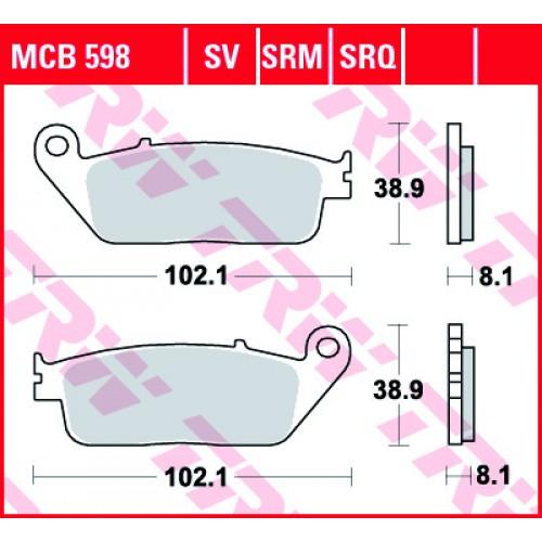 Тормозные колодки передние MCB598